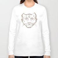 leopard Long Sleeve T-shirts featuring Leopard by CarmanPetite
