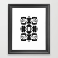 Horned Hearts: T-Shirt Framed Art Print