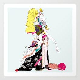 地獄太夫 (極雅) - JIGOKUDAYU (GOKUMIYABI) Art Print