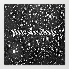 Glitter And Beauty Canvas Print