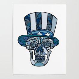 Uncle Sam Skull Mosaic Poster