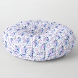 Blue Leaf Floor Pillow