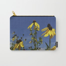 Yellow Coneflower, Ratibida, with azure prairie sky Carry-All Pouch