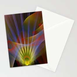 Inner light, spiritual fractal abstract Stationery Cards