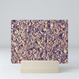 stones on the beach Mini Art Print