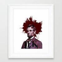 jfk Framed Art Prints featuring JFK by ClimbTheBell