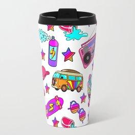 Retro pattern Travel Mug