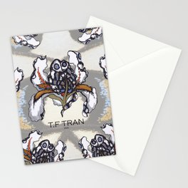 T.F TRAN MULTICOLOUR BUTTERFLY IRIS Stationery Cards