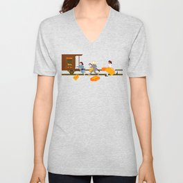 How Can A Train Be Lost? Unisex V-Neck