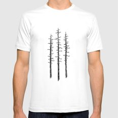 Pines White Mens Fitted Tee MEDIUM