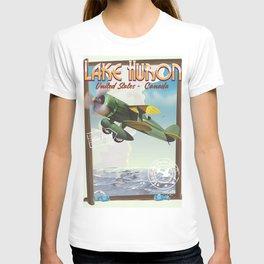 Lake Huron Vintage travel poster. T-shirt