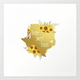 Home Sweet Texas Art Print