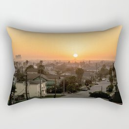 Sunset In Galveston Rectangular Pillow