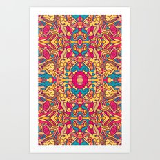 Eye Of The Beast Pattern Art Print