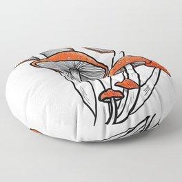 Resilient but Fragile magically cute mushrooms Floor Pillow