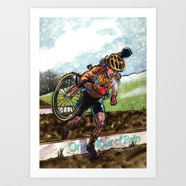 Cyclocross, One Hour of Pain Art Print