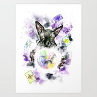 scarface Art Prints featuring Daubie the fortune teller  by Psyca