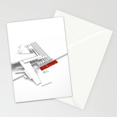 Malevich 3D [B&W] Stationery Cards