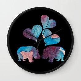 Hippo Art Wall Clock
