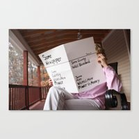 newspaper Canvas Prints featuring Newspaper by Mangodelight