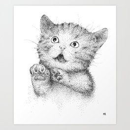Spottet Kitty Art Print