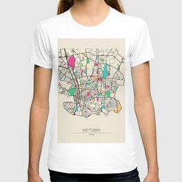 Colorful City Maps: Victoria, Canada T-shirt