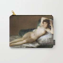 Maja Desnuda (The Nude Maja) by Francisco Goya Carry-All Pouch