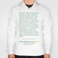 aragorn Hoodies featuring LOTR Lord of the Rings Riddle of Strider Quote by FountainheadLtd