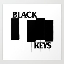The Black Piano Keys Art Print