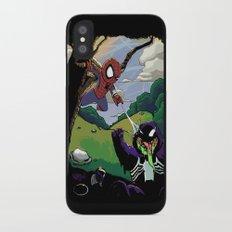 Kid Spidey iPhone X Slim Case