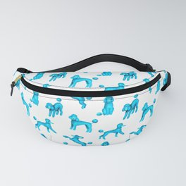 Turquoise Blue Poodles Fanny Pack
