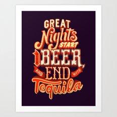 Great nights Art Print