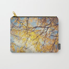 Gold Leaves and Blue Sky Carry-All Pouch