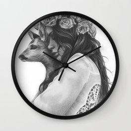 innocence with love Wall Clock