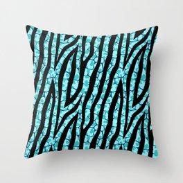 Fur mix texture - zebra 02 Throw Pillow