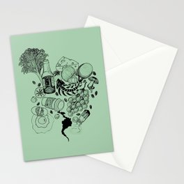 Dog Food NO GOOD Stationery Cards