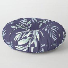Floating Leaves Blue 2 #society6 #buyart Floor Pillow