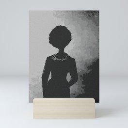 Smoke Shadows and Pearls Mini Art Print