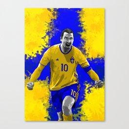 Zlatan Ibrahimovic - Sweden Canvas Print