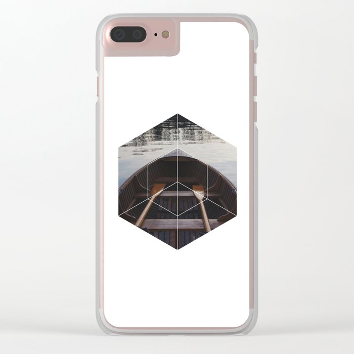 Peace of Mind Boat - Geometric Photography Clear iPhone Case