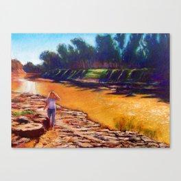 Golden River Canvas Print