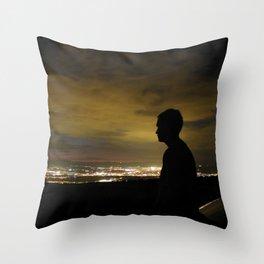 Blinding light that never sleeps Throw Pillow