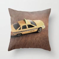 death cab for cutie Throw Pillows featuring cab by Vin Zzep