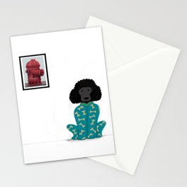 Poodle in a Onesie Stationery Cards