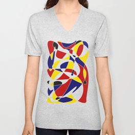 MONDRIAN AND GAUSS Unisex V-Neck