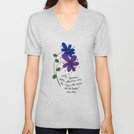 Flower happiness Unisex V-Neck