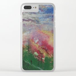 Hike to the heavens Clear iPhone Case