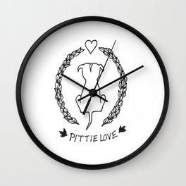 Ivy Pittie Love Wall Clock