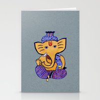 ganesha Stationery Cards featuring Ganesha by Vanya