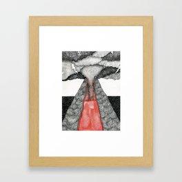 robot volcano Framed Art Print